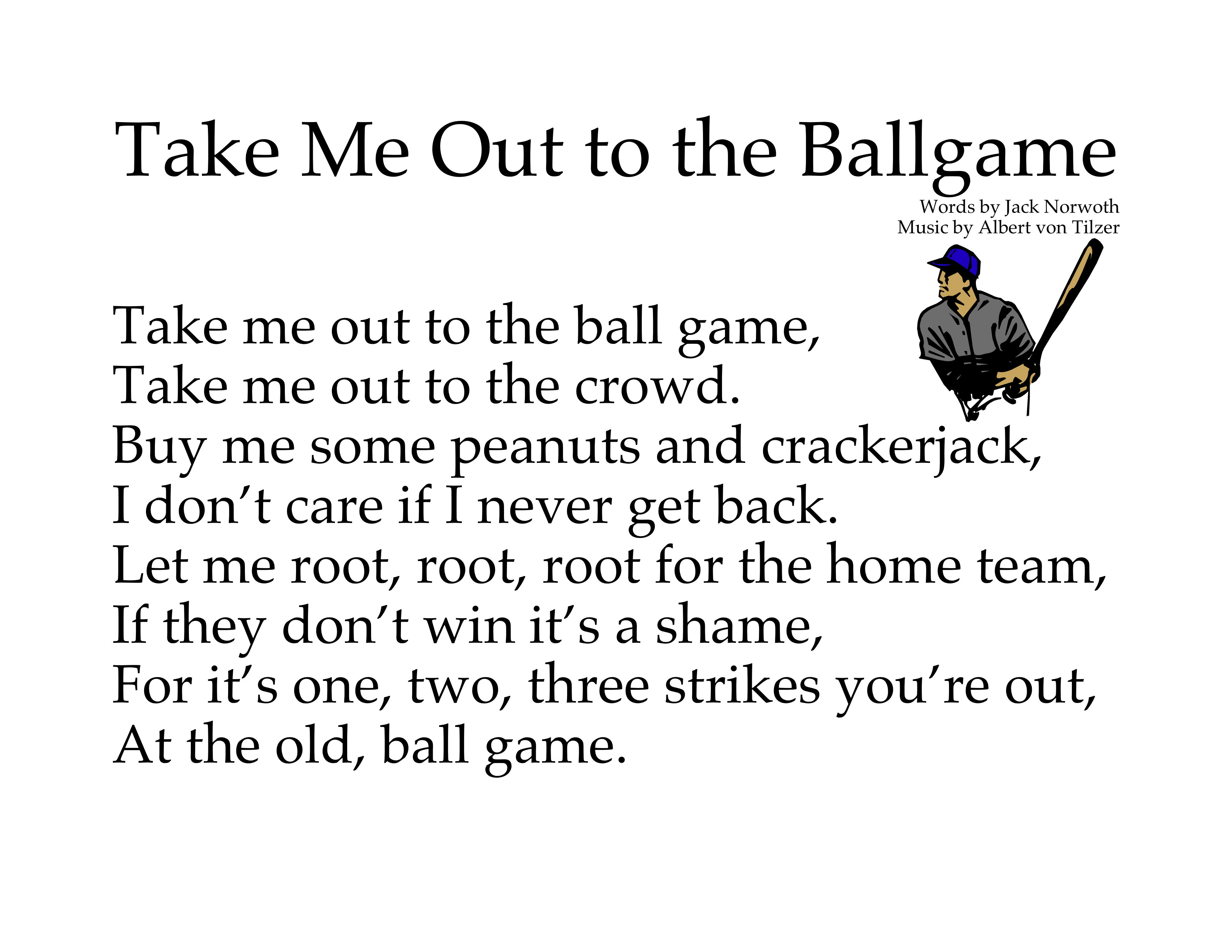 take me out to the ball game song search engine twitter facebook