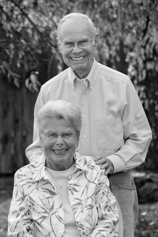 Edsel_and_Lea_Colvin-65th_anniversary_2013_bw