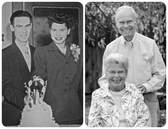 Lea and Edsel Colvin 1948 and 2013