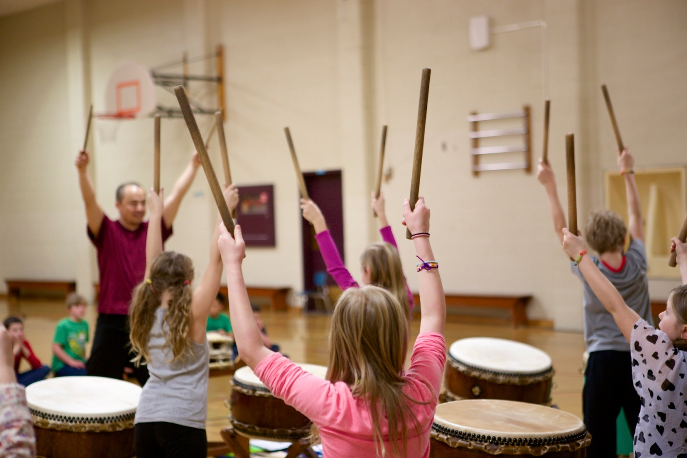 Day One of Our Taiko Drum Residency- Foundations
