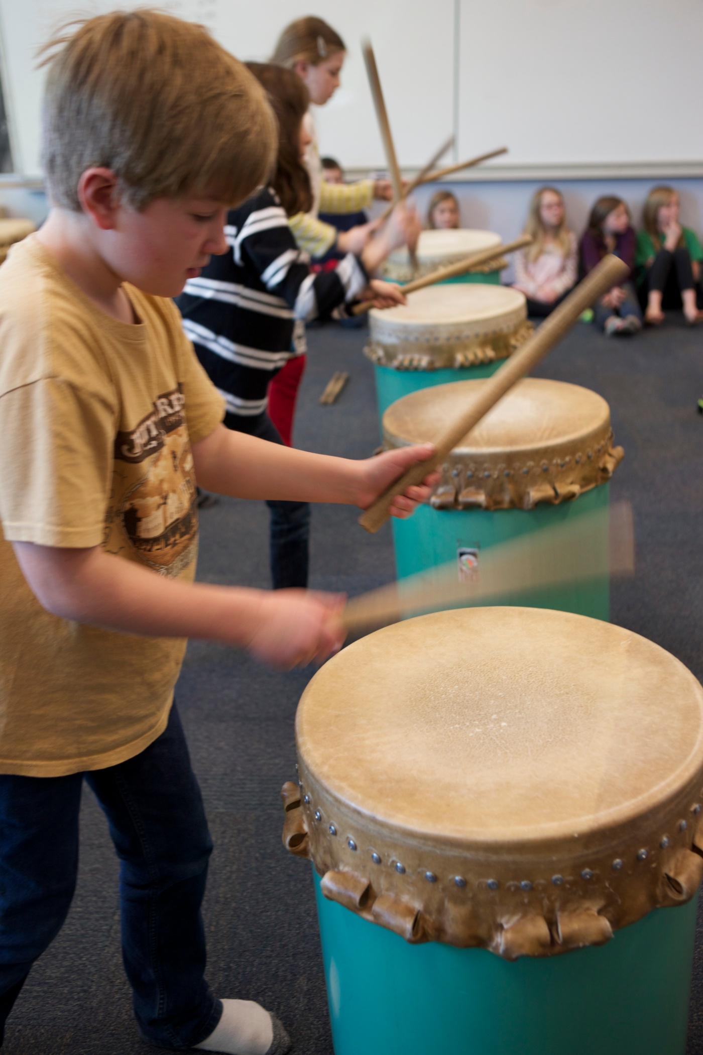 Day Three of Our Taiko Drum Residency- Perseverance